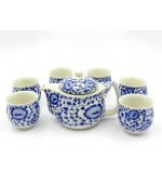 Tea set Ming - Blue flowers (code B11-4)