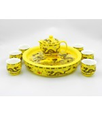Tea set - Yellow with dragons (code B55-1)