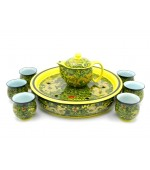 Tea set - Green with dragons (code B55-3)