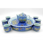 Tea set - Blue with dragons (code B55-4)