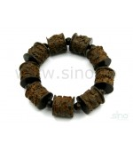 Wooden bracelet with carved chinese symbols (code B80)
