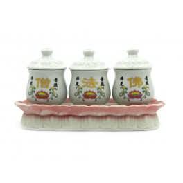 Set of small chinese burners for aromatic plants (code B76)