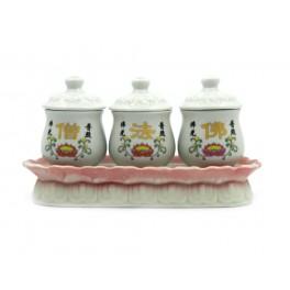 Set vase mici chinezesti pentru arderea plantelor aromatice (cod B76)