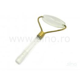 Rola din cristal natural pentru masaj facial (cod R83)