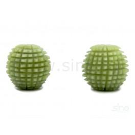 Bile zimtate pentru masaj din jad, 3,5 cm (cod R85-1)