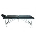 Masa masaj pliabila/mobila cu picioare aluminiu neagra (cod T44)