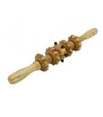 Roller din lemn cu 4 discuri zimtate si o bila (cod R105-3)