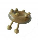 Dispozitiv din lemn pentru masaj forma circulara cu 6 bile (cod R31)