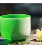 Bol cantator din cristal - Verde (cod F12)