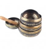 Tibetan singing bowl with mantras - small (code F85)