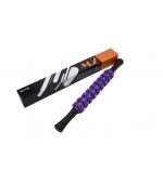 Roller masaj stick cu 9 role zimtate mov (cod R123-2)