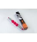 Roller masaj stick cu 3 bile zimtate rosii (cod R122-1)