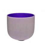Bol cantator din cristal - Violet (cod F06-1)