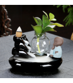 Suport conuri parfumate Buddha pe fantana in miniatura (Cod F53)