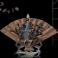 Decoratiune suport conuri parfumate backflow, forma de evantai cu lotus (Cod F63)