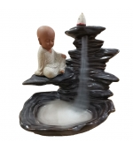 Suport conuri  parfumate Budhha pe stanca (cod F54)