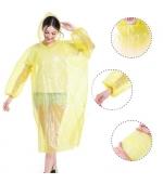 Pelerina de ploaie si protectie,  impermeabila, material PVC, marime universala, gluga, galben (cod U06)