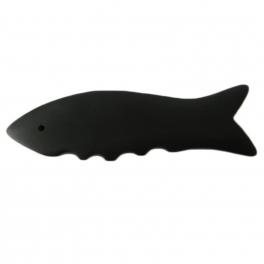 Gua sha volcanic stone - denticulate fish shape (code R70)