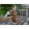 Ciocanel pentru masaj din lemn de Wenge, decontracturant, relaxant, tonifiant (cod R135)