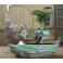 Ornament Feng Shui cu vas ceramica si mini fantana