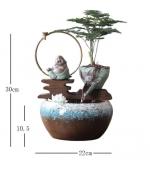 Vas ceramica cu dispozitiv curgere si aromaterapie