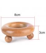 Dispozitiv din lemn pentru masaj forma circulara cu 3 bile (cod R74)