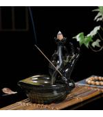 Suport conuri parfumate backflow floare de lotus si mana (cod F02)