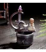 Suport conuri parfumate backflow Buddha pe fantana (Cod F58)