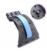 Dispozitiv Back Relax,  reglabil pentru indreptarea coloanei, strech lombar, cu magneti - ALBASTRU(cod T54M)