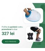 Pachet promo: Aparat masaj pentru picioare, cu infrarosu + Set stabilizatori, pentru genunchi, cu arcuri (cod E25 P)